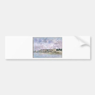 The Port, Trouville by Eugene Boudin Bumper Sticker