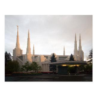 The Portland Oregon LDS Temple Postcard