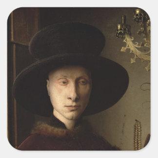 The Portrait of Giovanni  Arnolfini Square Stickers
