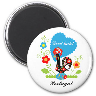 The Portuguese Rooster of Luck 6 Cm Round Magnet
