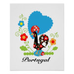 The Portuguese Rooster of Luck Posters