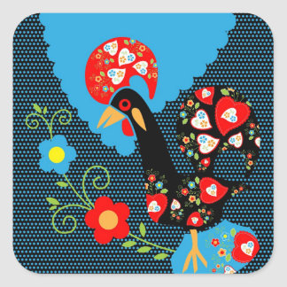 The Portuguese Rooster Square Sticker