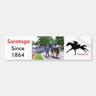 The Post Parade at Saratoga Car Bumper Sticker