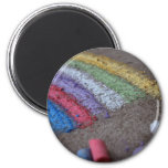 The Pot of Gold at the End of the Rainbow, Chalk 6 Cm Round Magnet