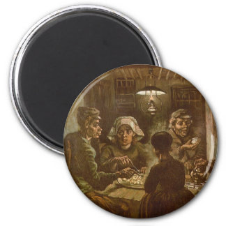 The Potato Eaters by Vincent van Gogh 6 Cm Round Magnet