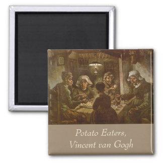 The Potato Eaters, van Gogh, Vintage Impressionism Refrigerator Magnets