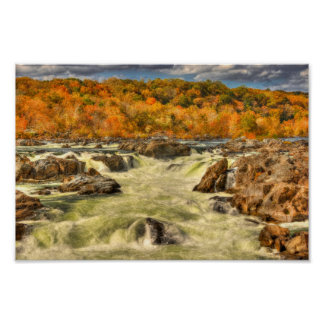 The Potomac River in Fall Colors Poster