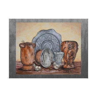 """The Potter's Pots"" Fine Art Still Life Canvas Print"