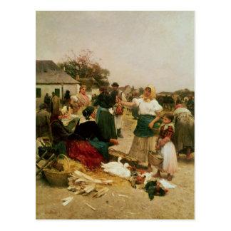 The Poultry Market, 1885 Postcard