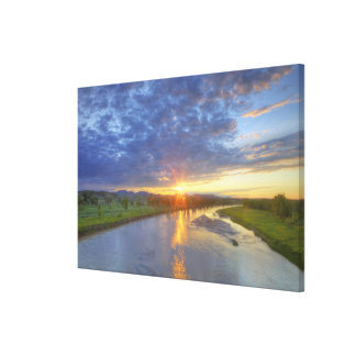 The Powder River catches last light in Custer Canvas Prints