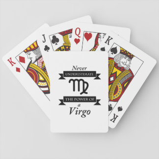 The Power Of A Virgo Symbol Zodiac Birthday Gift Playing Cards