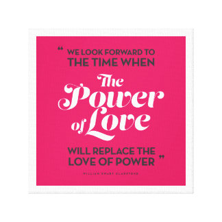 The Power of Love (pink) Canvas Prints
