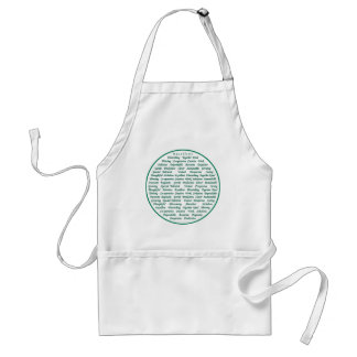The power of positive words apron