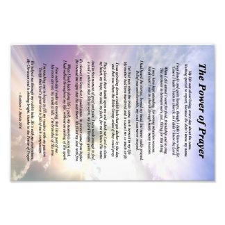The Power of Prayer Poem Photo Print