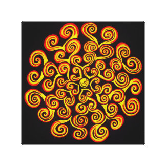 The Power of the Sun Mandala Wrapped Canvas