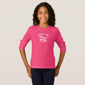 'The Power To Be', Pink Long Sleeved Girls Tee