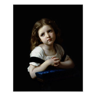The Prayer, by William Bouguereau (Print) Poster