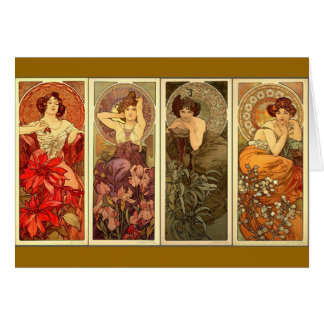 The precious Stones- Alfons Mucha Greeting Card