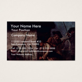 """The Preparation Of The Guns"""" By Longhi Pietro Business Card"""
