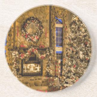 The Presence of Christmas Joy Beverage Coaster