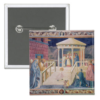 The Presentation of the Blessed Virgin Mary 15 Cm Square Badge