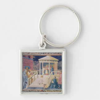 The Presentation of the Blessed Virgin Mary Silver-Colored Square Key Ring