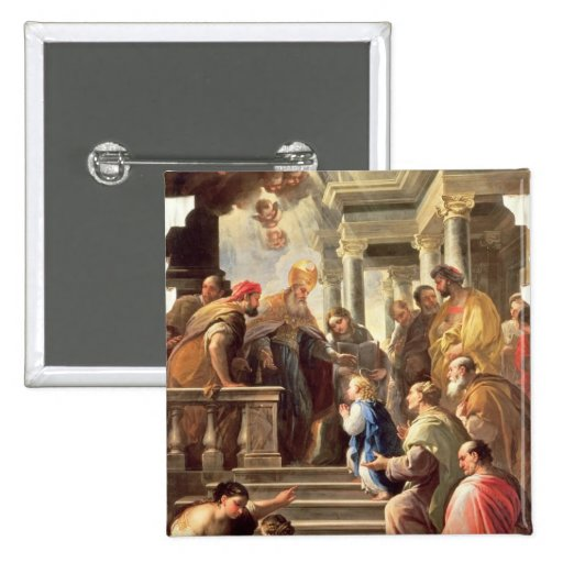 The Presentation of the Virgin at the Temple (oil Button