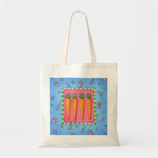 the prettiest carrots in the market budget tote bag