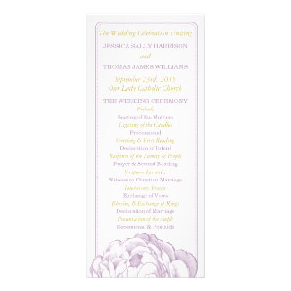 The Pretty Peony Floral Wedding Collection Rack Card