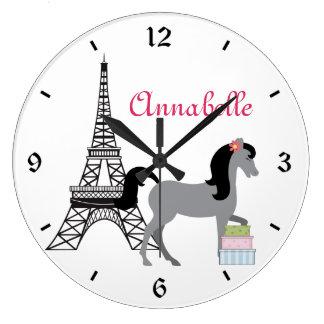 The Pretty Ponies Paris Horse Clock