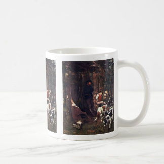 The Prey (Hunting), With Dogs By Courbet Gustave Mug