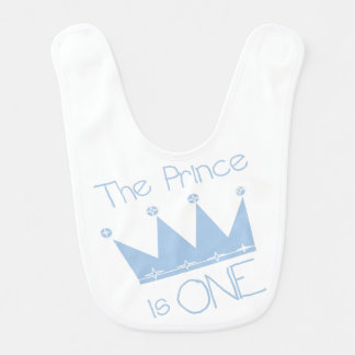 The Prince is One Birthday Bib