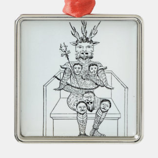 The Prince of Darkness Silver-Colored Square Decoration