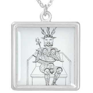 The Prince of Darkness Square Pendant Necklace