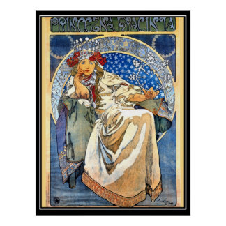 The Princess Alphonse Mucha Poster