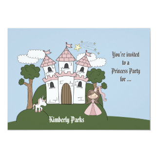 The Princess and her Unicorn -Photo Birthday Party Card