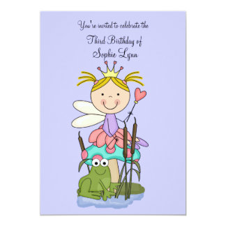 """The Princess and the Frog (Blonde)Party Invitation 5"""" X 7"""" Invitation Card"""