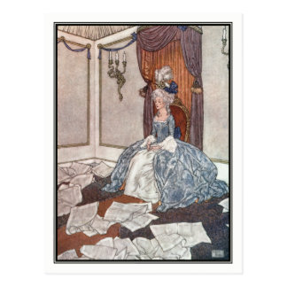 The Princess and the Newspapers by Edmund Dulac Postcard