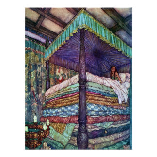 The Princess and the Pea Edmund Dulac Fine Art Poster