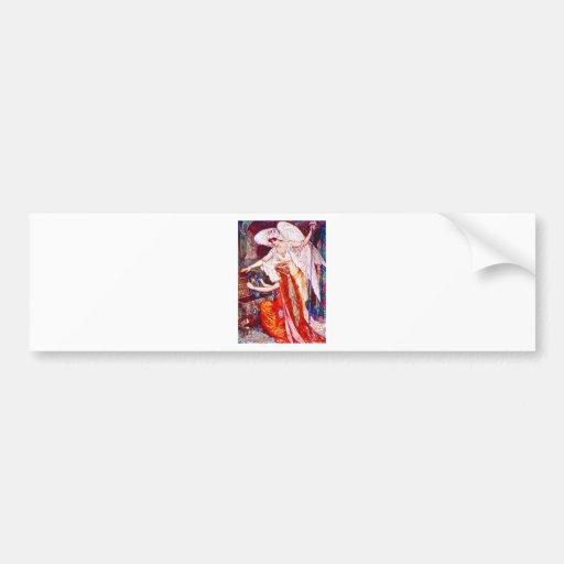 The Princess and the Templar Angel Bumper Sticker