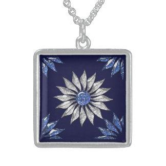 The Princess Charm Square Pendant Necklace