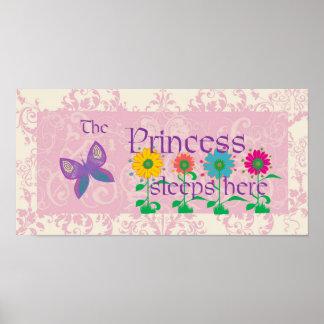 The Princess Sleeps Here Poster