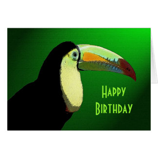 The Prismatic Toucan Birthday Greeting Card