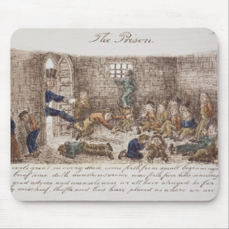 The Prison 1858 coloured engraving Mouse Pads