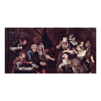 "The Prison "" By Hogarth William (Best Quality) Customised Photo Card"