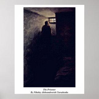 The Prisoner By Nikolay Aleksandrovich Yaroshenko Poster