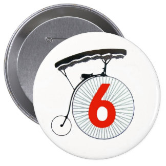 The Prisoner Number 6 10 Cm Round Badge