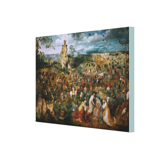 The Procession to Calvary by Pieter Bruegel the El Canvas Print