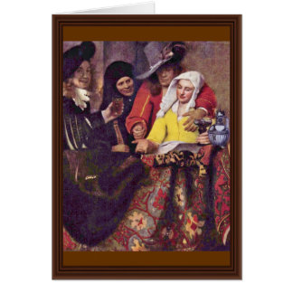 The Procuress,  By Johannes Vermeer Card
