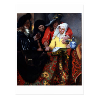 The Procuress by Johannes Vermeer Postcard
